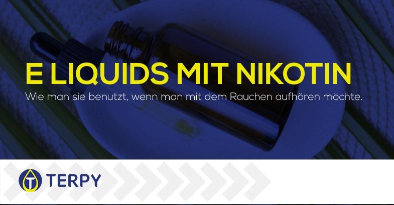 Liquids der e-Zigarette mit Nikotin