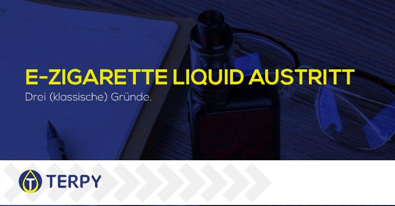 elektronischen Zigarette e zigarette Liquid austritt