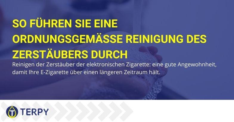 So reinigen Sie den Zerstäuber der elektronischen Zigarette ordnungsgemäß