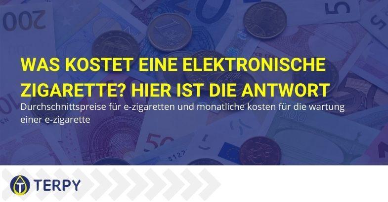 Kosten für die elektronische Zigarette