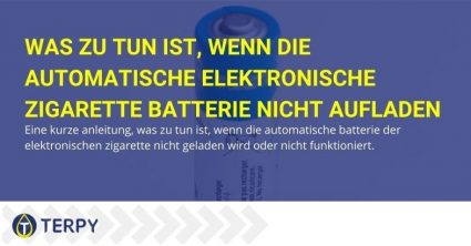 Was können Sie tun, wenn der automatische Akku der elektronischen Zigarette nicht geladen wird und nicht funktioniert?